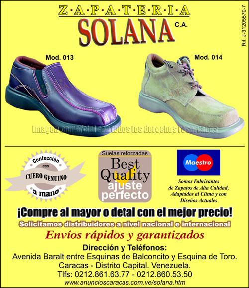 c9c1beb2436 Zapatería Solana C.A. es una empresa con alto prestigio en el mundo del  calzado