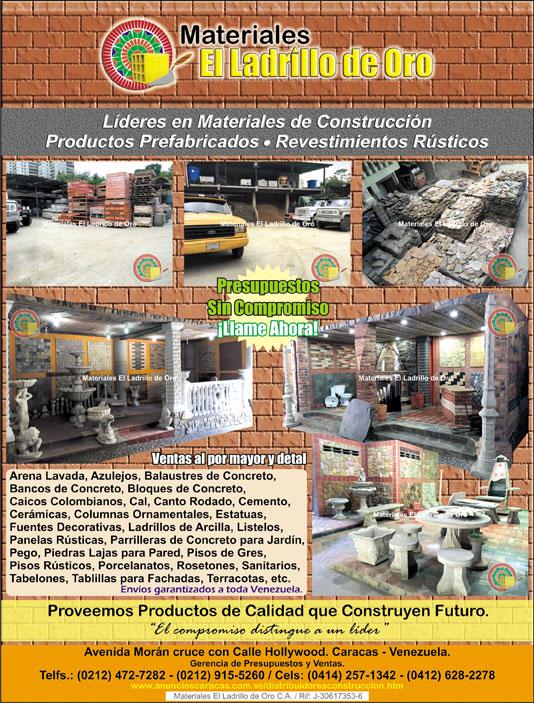 nos en la venta al por mayor y detal de los siguientes productos destinados para la construccin de obras