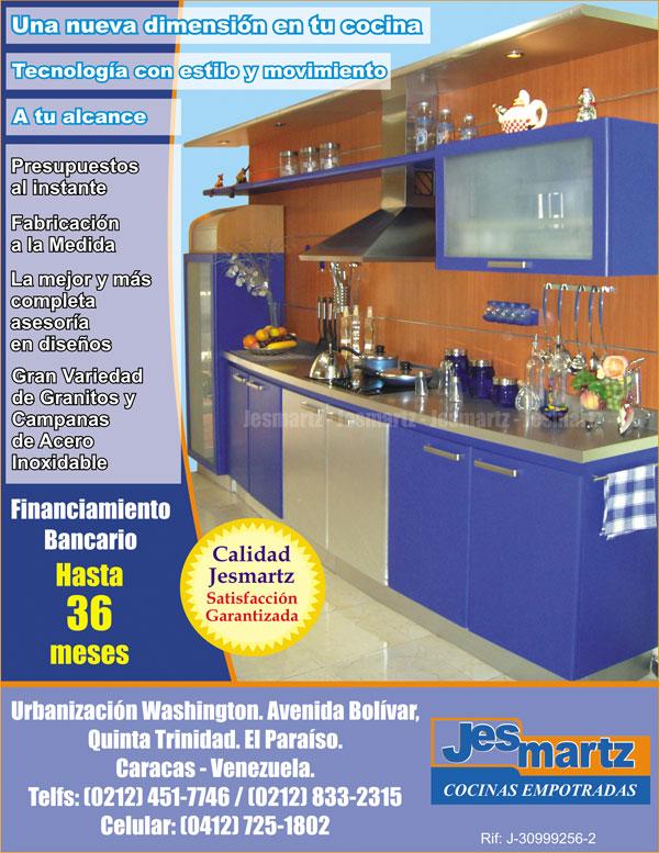 Cocinas empotradas en Venezuela. Diseño de cocinas