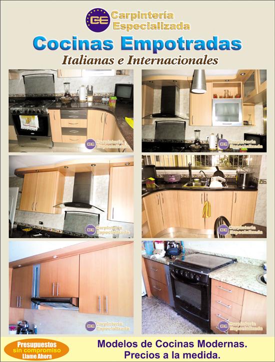 realizamos trabajos de carpintera que le ofrecen un diseo exclusivo fabricacin e instalacin de cocinas empotradas de estilo italiano