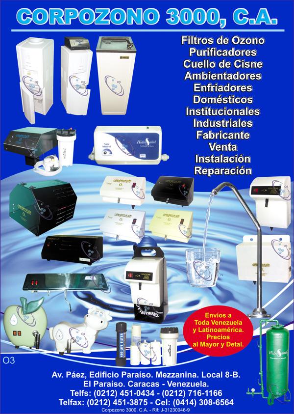 Filtros de ozono filtro de agua ambientador domesticos en for Purificadores de agua domesticos