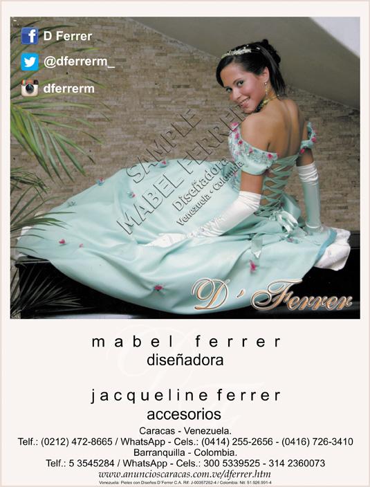2248dab225 Mabel Ferrer es una renombrada diseñadora de modas