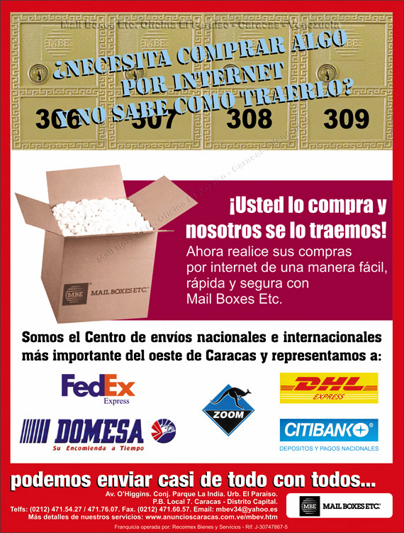 Mail boxes etc oficinas dhl fedex domesa zoom en anuncios for Oficinas de dhl