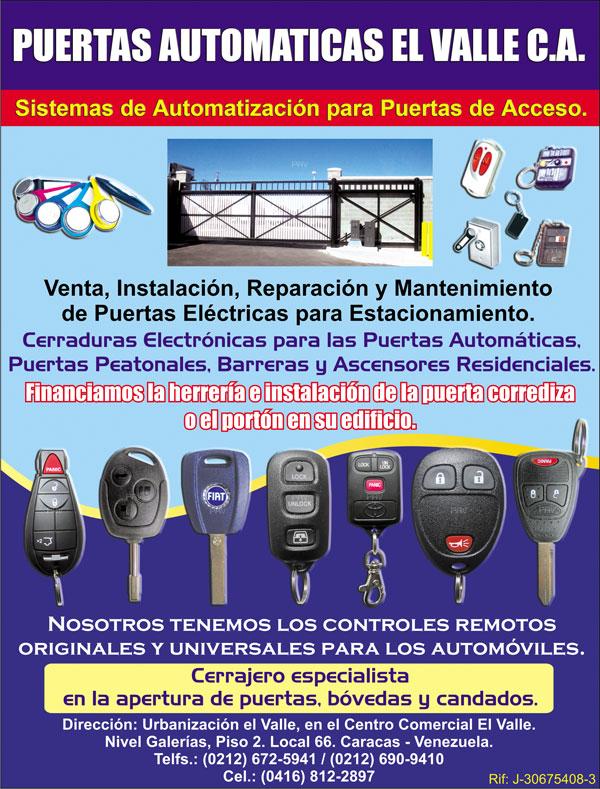 Puertas automaticas puertas electricas motores instalacion venta en anuncios caracas venezuela - Motores para puertas automaticas ...