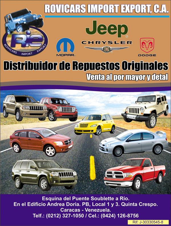 repuestos de jeep - mopar - dodge - chrysler - en anuncios caracas